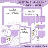 RTP Shirt, Tie & Cuffs Card - LILAC(Retiring in August)