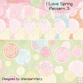 I Love Spring Papers - Pattern 3(Retiring in August)
