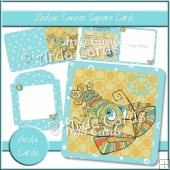 Zodiac Cancer Square Card