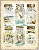 Seacoast Dreams Mason Jar Embellishments