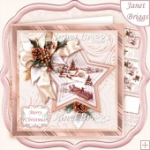 TRADITIONAL SLEIGH RIDE 7.5 Christmas Decoupage & Insert Kit