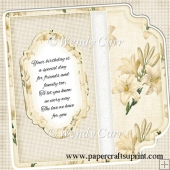 Square Fancy Edges Card Front - Floral 3(Retiring in August)