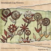 Steampunk Cog Flowers
