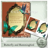 Sympathy Butterfly and Hummingbird