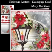 Christmas Lantern - Decoupage Card