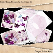 Butterflies & Flowers 3d Easel Card Kit