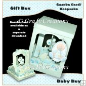 Baby Boy Gazebo Card Gift Box