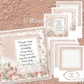 Large Square Card Front - Rose Creation (Retiring in August)