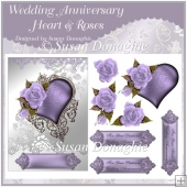 Wedding Anniversary Hearts & Roses