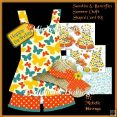 Sunshine&Butterflies~ Summer Outfit Shaped card Kit