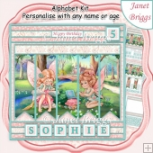 FAIRYLAND 7.5 Alphabet and Age Quick Card Kit Create Any Name