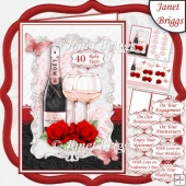 CHAMPAGNE CELEBRATIONS RUBY A5 Decoupage & Insert
