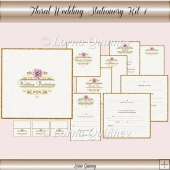 Floral Wedding Stationery Kit 1