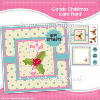 Candy Christmas Card Front