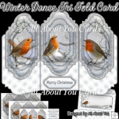 Winter Dance Tri Fold Card
