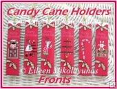 Primitive Candy Cane Holders Printable Project