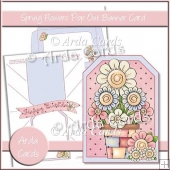 Spring Flowers Pop Out Banner Card