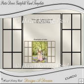 Patio Doors Gatefold Card Template