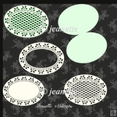Christmas holly Oval Card set