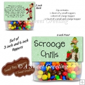 Scrooge Candy Chills 3 & 6 Inch Treat Bag Toppers