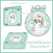 Xmas Trimmings Snowman Bauble_Card_Box Kit