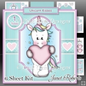 Unicorn Kisses Topper Kit & Money Wallet