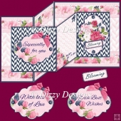Blooming Flowers Double Z Fold Card