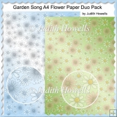 Garden Song A4 Flower Paper Duo Pack