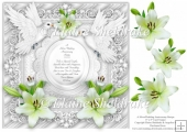 Silver Wedding Anniversary 8 x 8 Card Topper & Decoupage Lilies