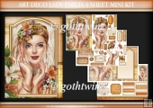 Art Deco Lady Emilia 4 Sheet Mini Kit Peach
