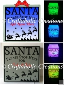 Santa Please Stop Here...SVG DXF FCM formats included
