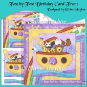 Two by Two Birthday Card Front with Decoupage