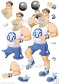 Get Fit Dude (blue) Decoupage Sheet
