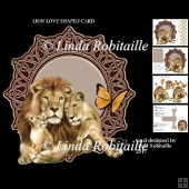 Lion Love Shaped Card