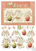 Bunnykins Easter A5 Quick Card Front