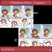 Christmas Bears - Toppers