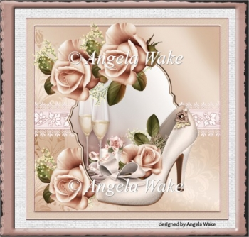 The wedding shoe and rose
