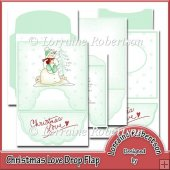 Christmas Love Drop Flap Card