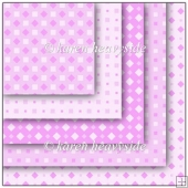Pink Multi Square Diamond Pattern Papers