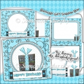 Birthday Gift Shadow Box Card & Envelope