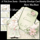 A Visit from Santa - Stand-up Envelope Card