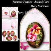 Summer Pansies - Arched Card