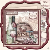 AGE & GLASSES OF WINE SHOULD NEVER BE COUNTED 8x8 Decoupage Kit