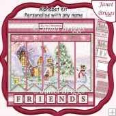IT'S COLD OUTSIDE Christmas 7.5 Quick Card Kit Create Any Name