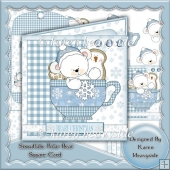 Snowflake Polar Bear Square Card