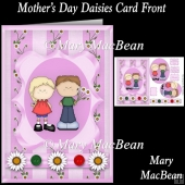 Mother's Day Daisies card Front
