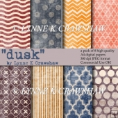 DUSK - a pack of 8 high quality A4 size digital papers - CUOK