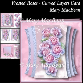 Frosted Roses - Curved Layers Card