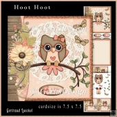 Cardtopper Kit Hoot Hoot peach
