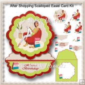 After Shopping Scalloped Easel Card Kit
